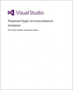 Завершение первого запуска IDE Visual Studio